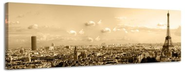 Parijs - Canvas Schilderij Panorama 158 x 46 cm