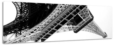 Eiffeltoren - Canvas Schilderij Panorama 158 x 46 cm