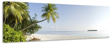 Malediven - Canvas Schilderij Panorama 158 x 46 cm