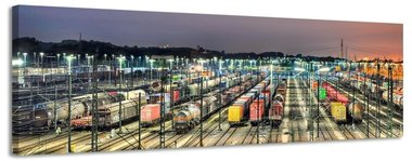 Treinen - Canvas Schilderij Panorama 158 x 46 cm