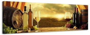 Wijnvaten - Canvas Schilderij Panorama 158 x 46 cm