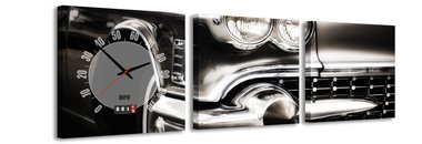 Cadillac - Canvas Schilderij Klok Vierkanten