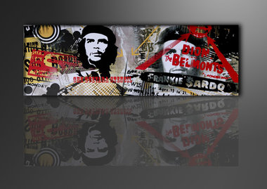 Che Guevara - Canvas Schilderij Panorama 120 x 40 cm