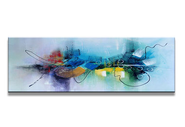 Abstract 'Maike' - Canvas Schilderij Panorama 120 x 40 cm
