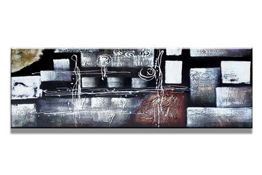 Abstract 'Tamara' - Canvas Schilderij Panorama 120 x 40 cm