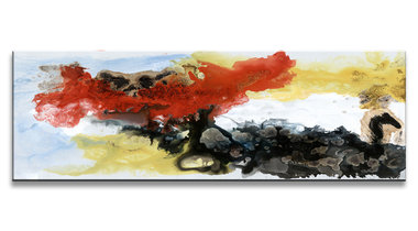 Abstract 'Alexander' - Canvas Schilderij Panorama 120 x 40 cm