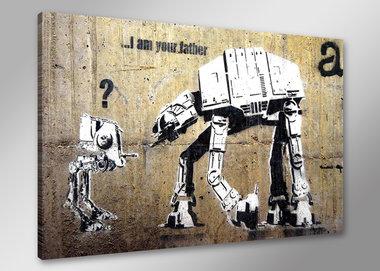 Banksy Robot - Canvas Schilderij 80 x 60 cm