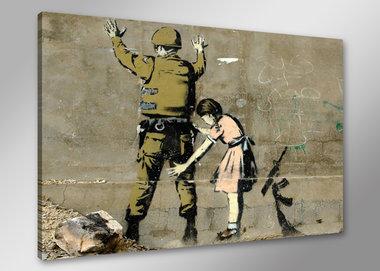 Banksy Soldaat - Canvas Schilderij 80 x 60 cm