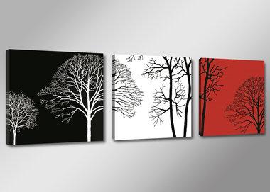 Bomen - Canvas Schilderij Drieluik 150 x 50 cm