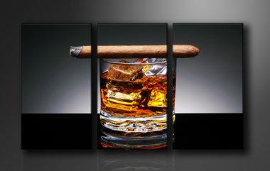 Lounge - Canvas Schilderij Drieluik 160 x 90 cm
