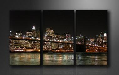 New York - Canvas Schilderij Drieluik 160 x 90 cm
