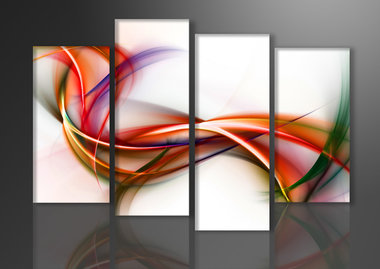 Abstract 'Diny' - Canvas Schilderij Vierluik 130 x 80 cm
