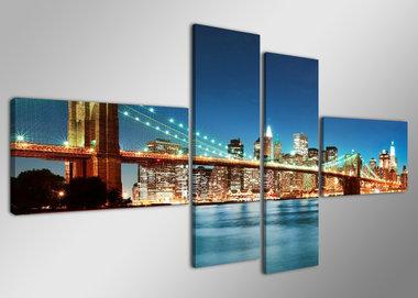 New York - Canvas Schilderij Vierluik 160 x 70 cm