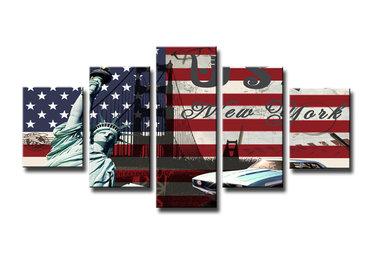 USA - Canvas Schilderij Vijfluik 100 x 50 cm