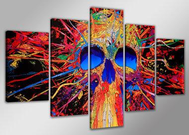Doodshoofd - Canvas Schilderij Vijfluik 160 x 80 cm