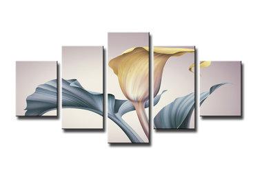 Bloem - Canvas Schilderij Vijfluik 160 x 80 cm