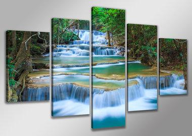 Natuur - Canvas Schilderij Vijfluik 200 x 100 cm