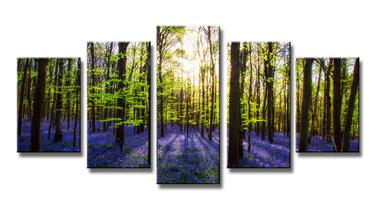 Lavendel - Canvas Schilderij Vijfluik 200 x 100 cm