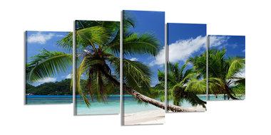 Palmbomen - Canvas Schilderij Vijfluik 200 x 100 cm