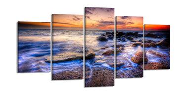 Oceaan - Canvas Schilderij Vijfluik 200 x 100 cm