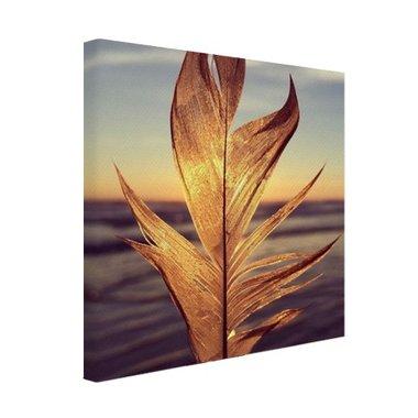 Veer bij zonsondergang foto - Canvas