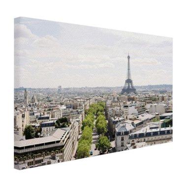 Parijs Skyline - Canvas