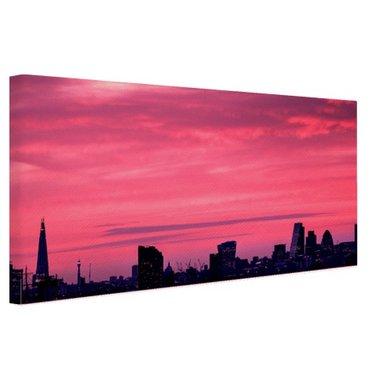 Londen skyline bij zonsondergang - Canvas