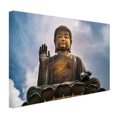 Boeddha beeld in open lucht - Canvas