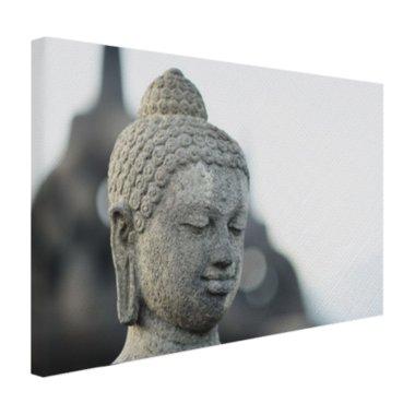 Boeddha hoofdbeeld steen - Canvas