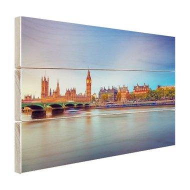 Skyline Londen - Hout