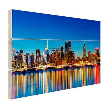Skyline New York by night - Hout