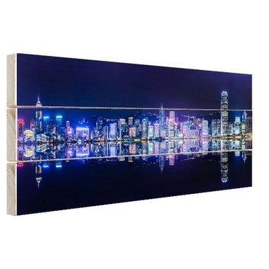 Hong Kong skyline - Hout