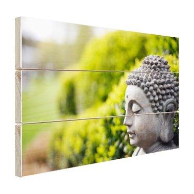 Standbeeld van Boeddha in een tuin - Hout