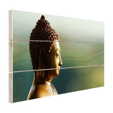 Boeddha beeld fotoprint - Hout