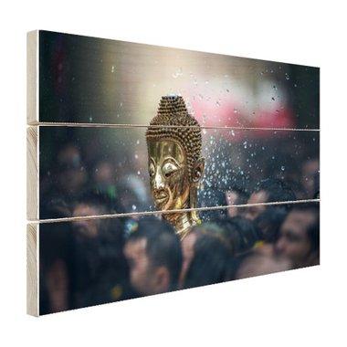 Boeddha in een Thaise tempel - Hout