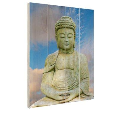 Stenen Boeddha - Hout