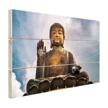Boeddha beeld in open lucht - Hout