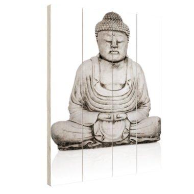 Stenen standbeeld van Boeddha - Hout