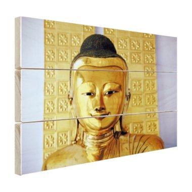 Gouden Boeddha beeld - Hout