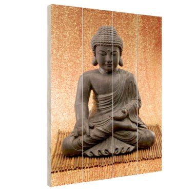 Hindoe Boedha standbeeld - Hout