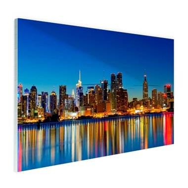 Skyline New York by night - Plexiglas