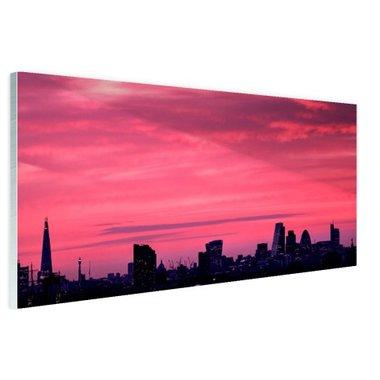 Londen skyline bij zonsondergang - Plexiglas