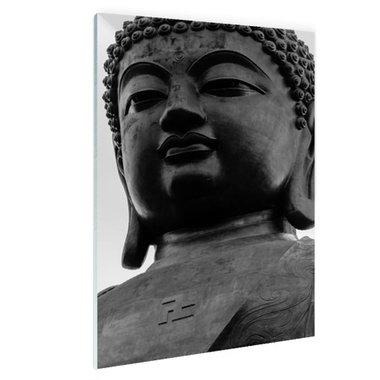 Zwart-wit van de Tian Tan Boeddha - Plexiglas