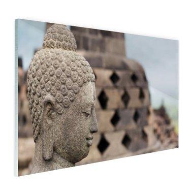 Boeddha standbeeld in Borobudur tempel - Plexiglas