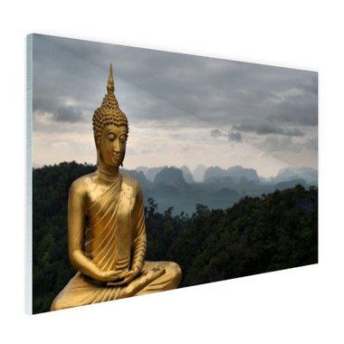 Boeddha met bewolkte lucht - Plexiglas