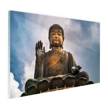 Boeddha beeld in open lucht - Plexiglas