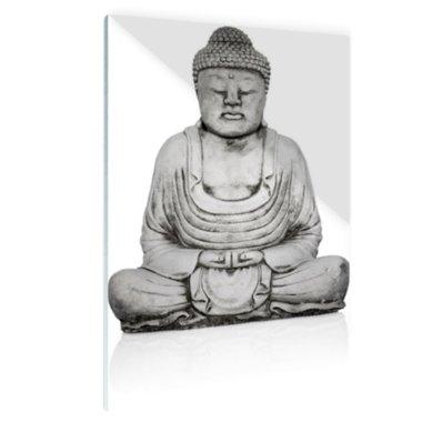 Stenen standbeeld van Boeddha - Plexiglas