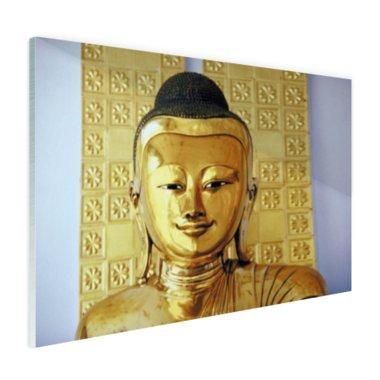 Gouden Boeddha beeld - Plexiglas