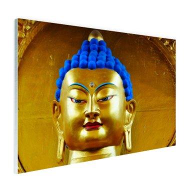 Goud met blauw Boeddha beeld - Plexiglas