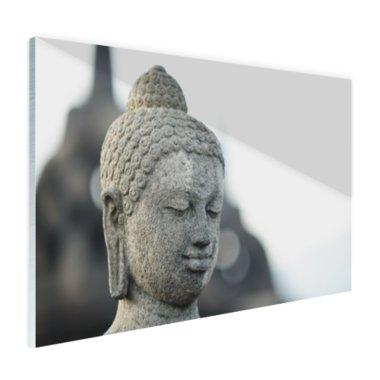 Boeddha hoofdbeeld steen - Plexiglas
